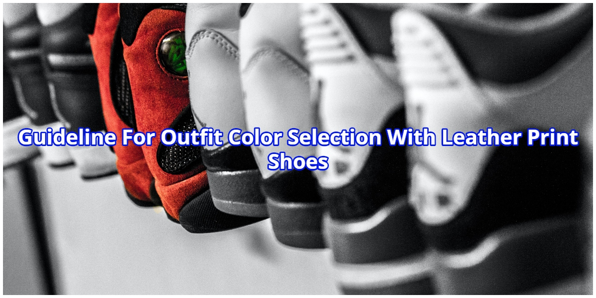 Guideline For Outfit Color Selection With Leather Print Shoes