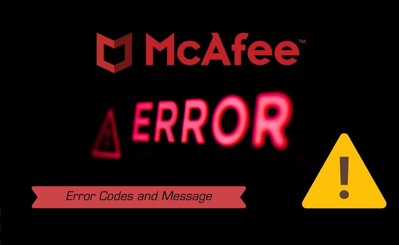 McAfee's common errors