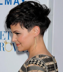 Choppy pixie with a tapered nape