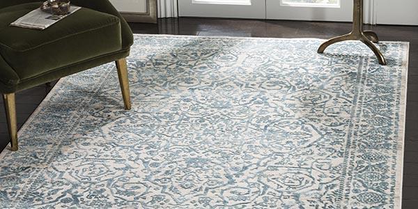 Traditional Aqua coloured rugs