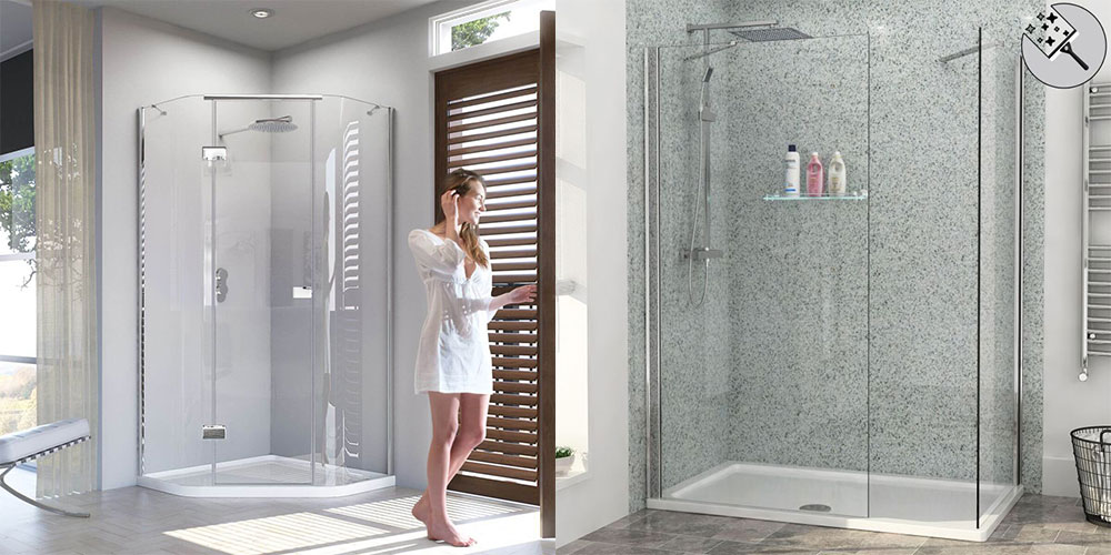 shower enclosures with tray