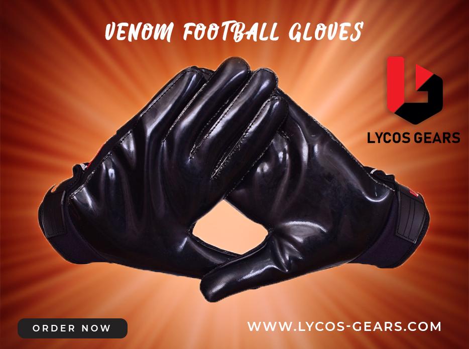 venom football receiver gloves